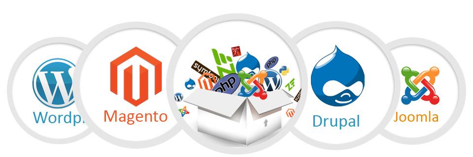 Wordpress, Magento, Drupal, Joomla